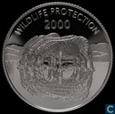 "Uganda 2000 shillings 2000 ""Wild life protection"""
