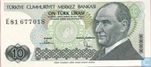 Turkey 10 Lira ND (1982/L1970)