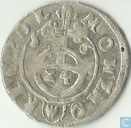 Poland 3 polker 1616 (W in shield)