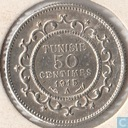 Tunisia 50 centimes 1915 (year 1334)