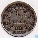 German Empire ½ mark 1905 (D)