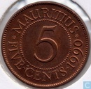 Maurice 5 cents 1990