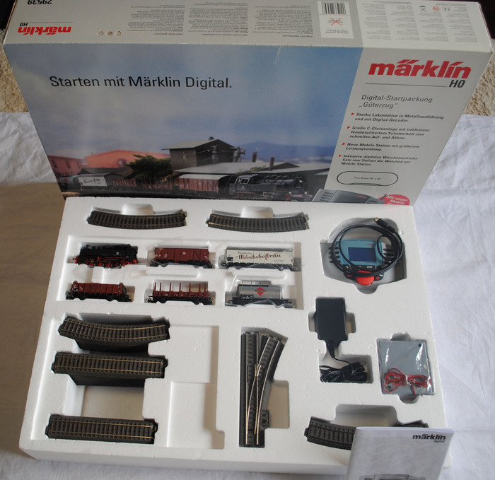 "Märklin H0 - 29539 - Digitale startset  ""Goederentrein"" met C- rails en Mobile Station"