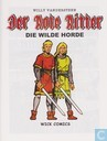 Comic Books - Red Knight, The [Vandersteen] - Die wilde Horde