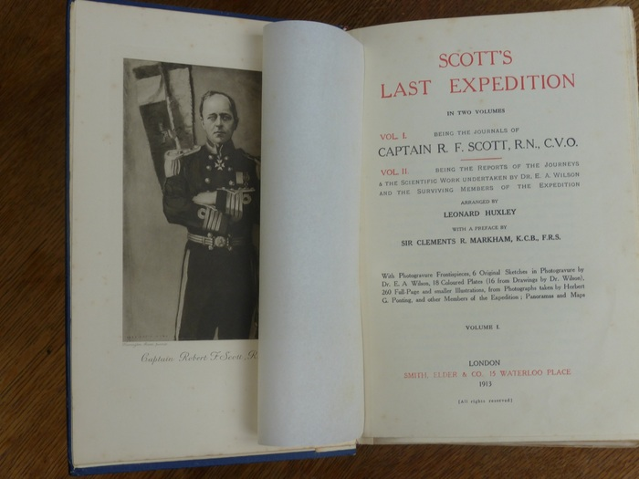 Reizen; R.F. Scott - Scott's Last Expedition, Being the Journals [&] Reports- 2 delen - 1913
