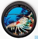 "Palau 1 dollar 2008 (BE) ""Lobster"""