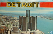 Detroit . Skyline . Plaza Hotel . Renaissance Center . Detroit River