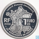 "France 1½ 2002 euro (PROOF) ""Le Mont Saint Michel"""