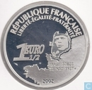 "France 1½ euro 2002 (PROOF) ""75th anniversary of the first solo flight over the Atlantic without stopover"""