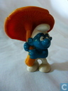 Smurf with mushroom (umbrella)