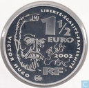 "France 1½ euro 2002 (PROOF) ""200th birthday of Victor Hugo"""