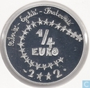 "Frankrijk ¼ euro 2002 (PROOF) ""Childrens design"""