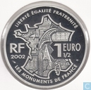 "France 1½ euro 2002 (PROOF) ""La Butte Montmartre"""