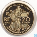"France 20 euro 2002 (PROOF) ""La Butte Montmartre"""
