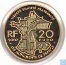 "Frankrijk 20 euro 2002 (PROOF) ""Le Mont Saint Michel"""
