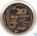 "Frankrijk 20 euro 2002 (PROOF - goud) ""200th anniversary of the birth of Victor Hugo"""