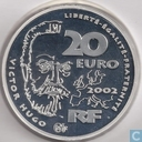 "Frankrijk 20 euro 2002 (PROOF - zilver) ""200th anniversary of the birth of Victor Hugo"""