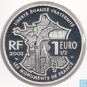 "France 1½ euro 2003 (PROOF) ""Château de Chambord"""