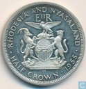 Rhodesie et Nyasaland half crown 1955 (BE)