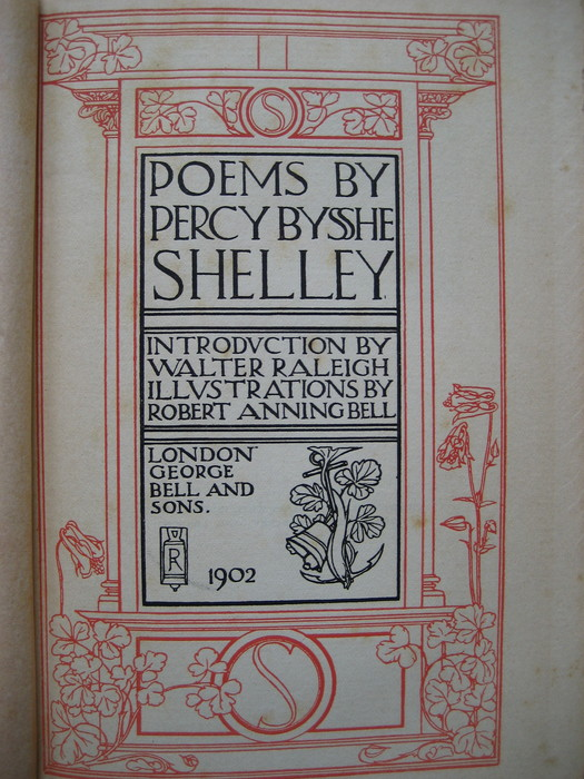 Poetry; Percy Bysshe Shelley - Poems - 1902