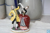Sculpture of dancing couple, Saxon porcelain
