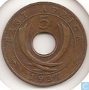 Oost-Afrika 5 cents 1937 (KN)