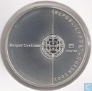 "Portugal 8 euro 2003 (PROOF 925 Ag) ""European Football Championship 2004 in Portugal - Football is Fair Play"""