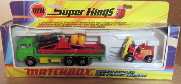 Matchbox Superkings - Schaal onbekend - Daf Cargo incl. fork lift pallet loader