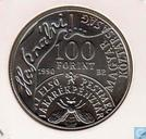 "Hongarije 100 forint 1990 ""150th Anniversary of Savings Bank - Adreas Fay"""