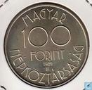 """Hungary 100 forint 1989 """"World Cup 1990"""""""