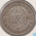 "German Empire 2 reichsmark 1934 (G) ""1st Anniversary of Nazi Rule - Potsdam Garrison Church"""