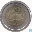 "Monnaies - Espagne - Espagne 2 euro 2007 ""50th anniversary of the Treaty of Rome"""