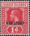 King George V with overprint