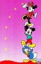 Mickey Mouse, Minnie Mouse en Donald Duck
