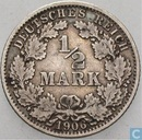 German Empire ½ mark 1906 (G)