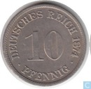Empire allemand 10 pfennig 1874 (F)