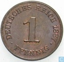 German Empire 1 pfennig 1887 (J)