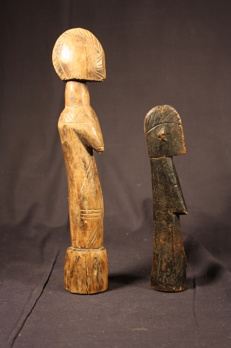 "2 traditionele speelpoppen ""Mossi Doll"" - MOSSI - Burkina Faso"