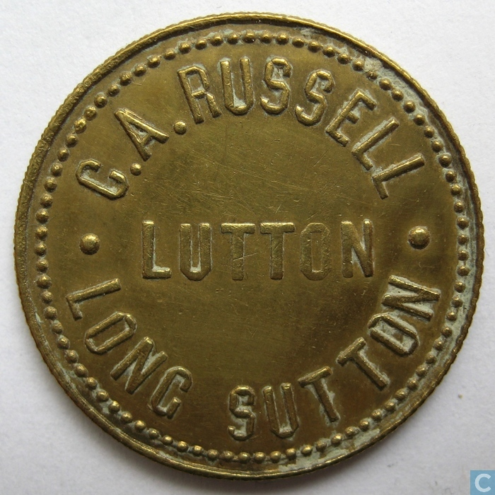 C a russell lutton long sutton 1 1 4d farm token for Catalogue plantation