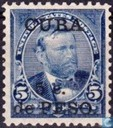 USA stamps with overprint
