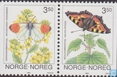 Timbres-poste - Norvège - Papillons