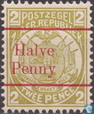Coat of arms with overprint