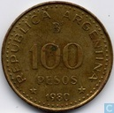 Argentina 100 pesos 1980 (brass plated steel)