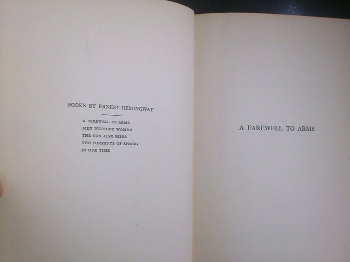 a farewell to arms ernest hemingway pdf