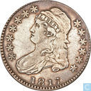 United States 1/2 dollar 1817 (7 over 4)