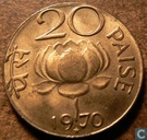 Indien 20 Paise 1970 (Hyderabad)