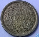 Coins - the Netherlands - Netherlands 25 cent 1914