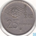 "Spain 25 pesetas 1980 (81) ""1982 Soccer World Cup"""