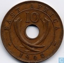 East Africa 10 cents 1942 (mint mark I)