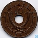 East Africa 10 cents 1941 (mint mark l)